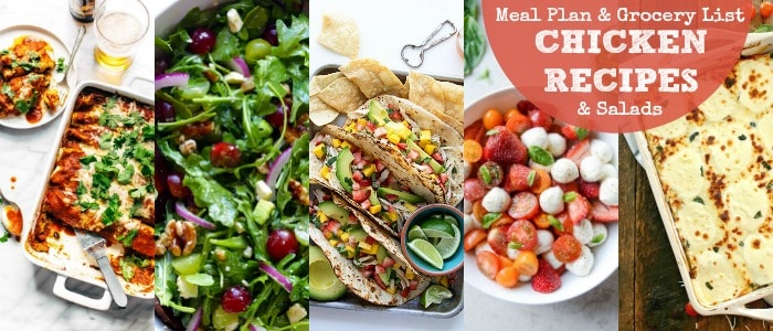 Healthy Chicken Dinner Recipes & Salads Meal Plan