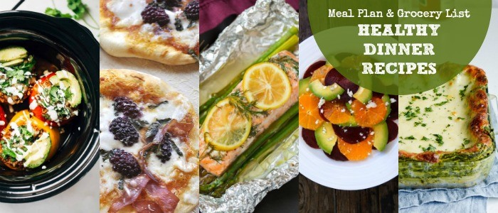 Healthy Dinner Recipes – Meal Plan