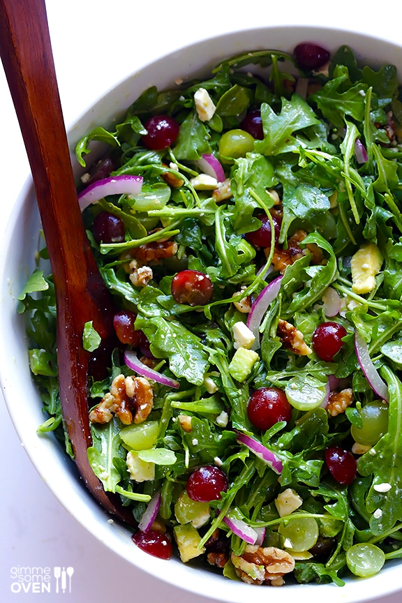 healthy--chicken-dinner-recipes-meal-plan-grape-arugula-salad