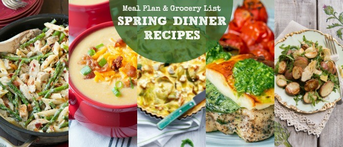 Rainbow Delicious Changes & May Spring Dinner Recipes