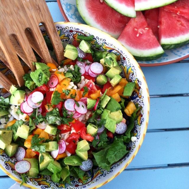 radish avocado jicima salad
