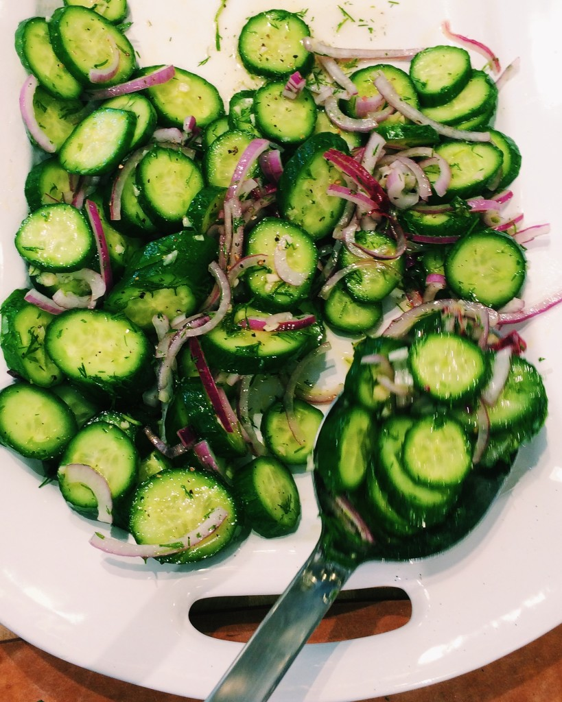 Salt Block Cooking Recipe Cucumber Salad