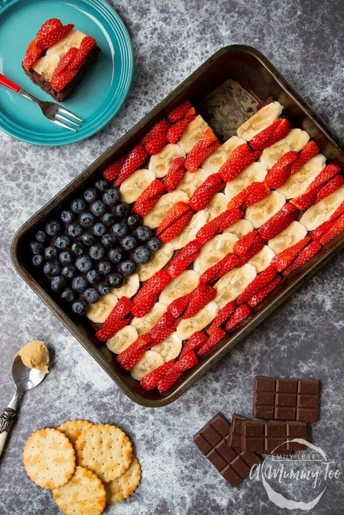 4th of July Brownie Flag - July 4th recipes