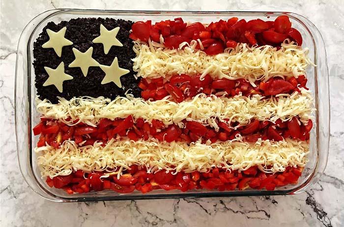 American Flag Taco Dip - 4th of July Snacks
