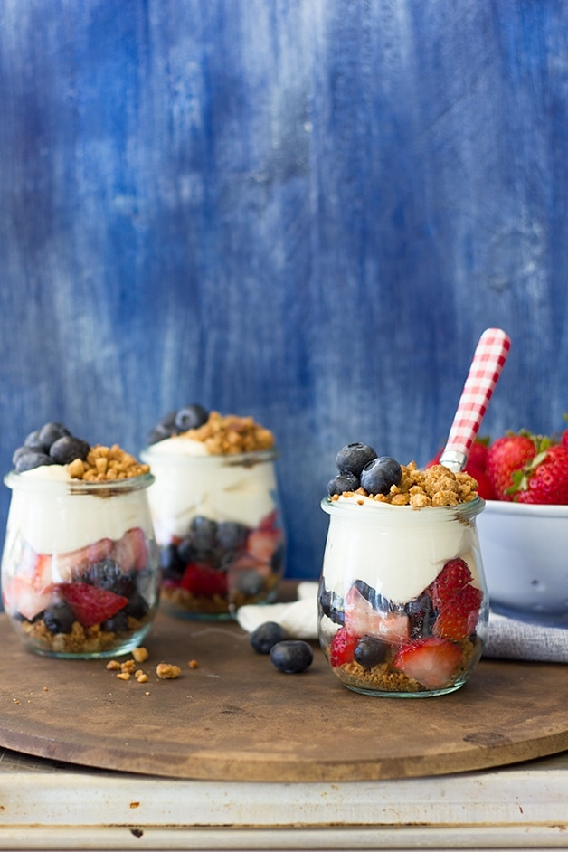Berries and Cream Parfaits - 4th of July Snacks
