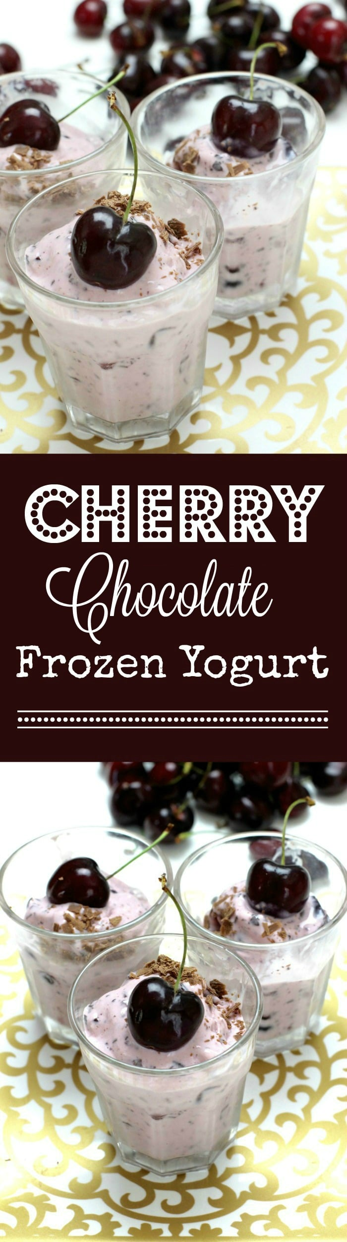 Cherry Chocolate Frozen Yogurt from Rainbow Delicious