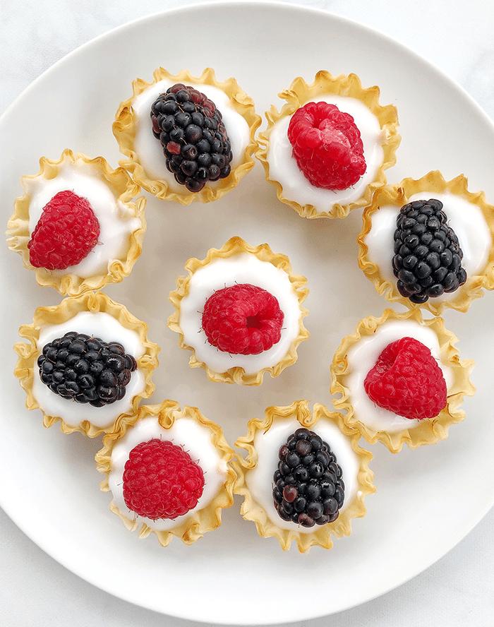 Fresh Berry Yogurt Tarts - 4th of July Snack Recipes