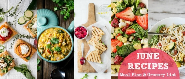 June Recipes Meal Plan