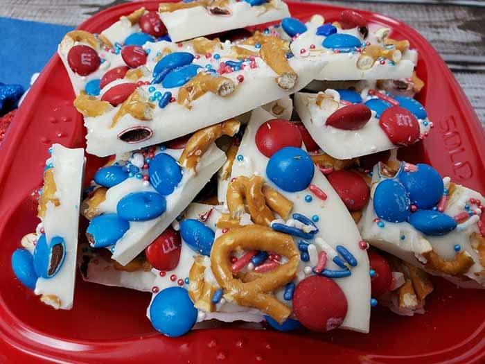 Patriotic Bark - 4th of July Snacks
