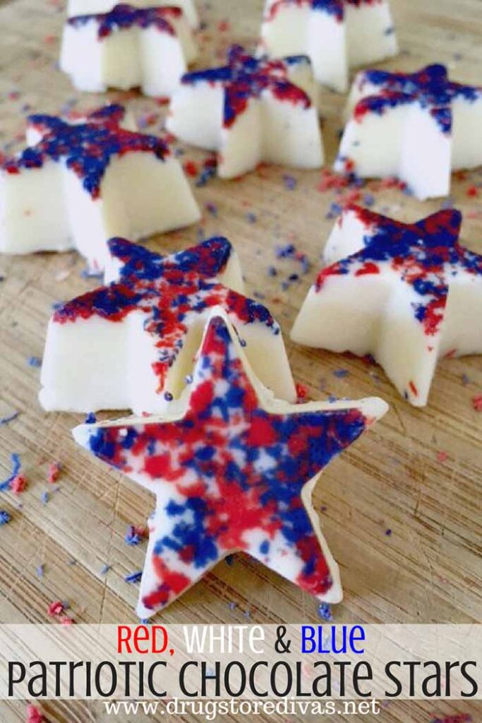 Patriotic white chocolate stars - 4th of July Snacks