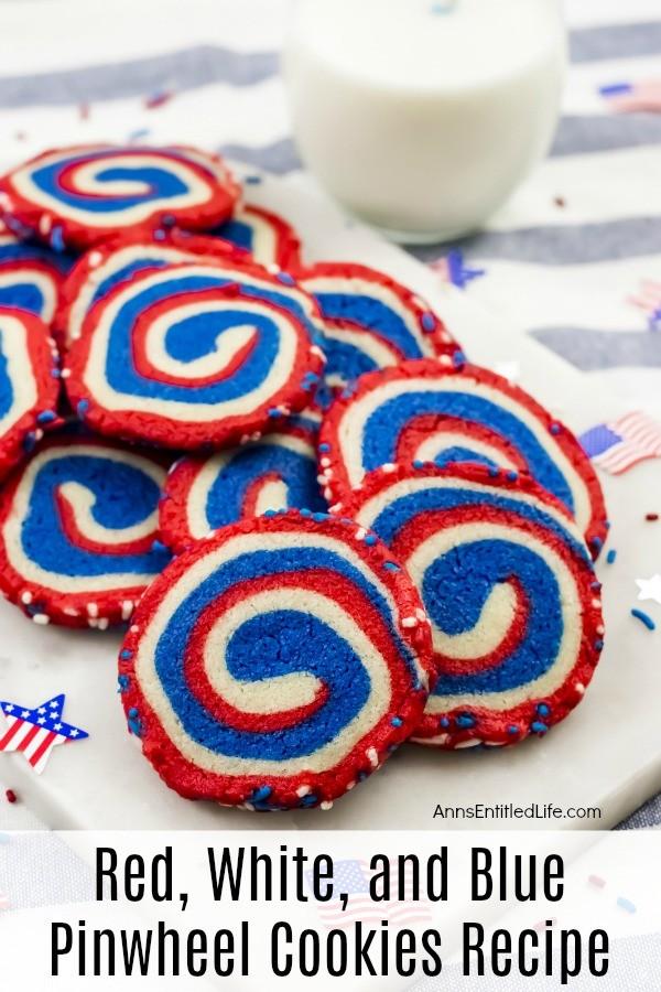 Red Whit eand Blue Pinwheel Cookies