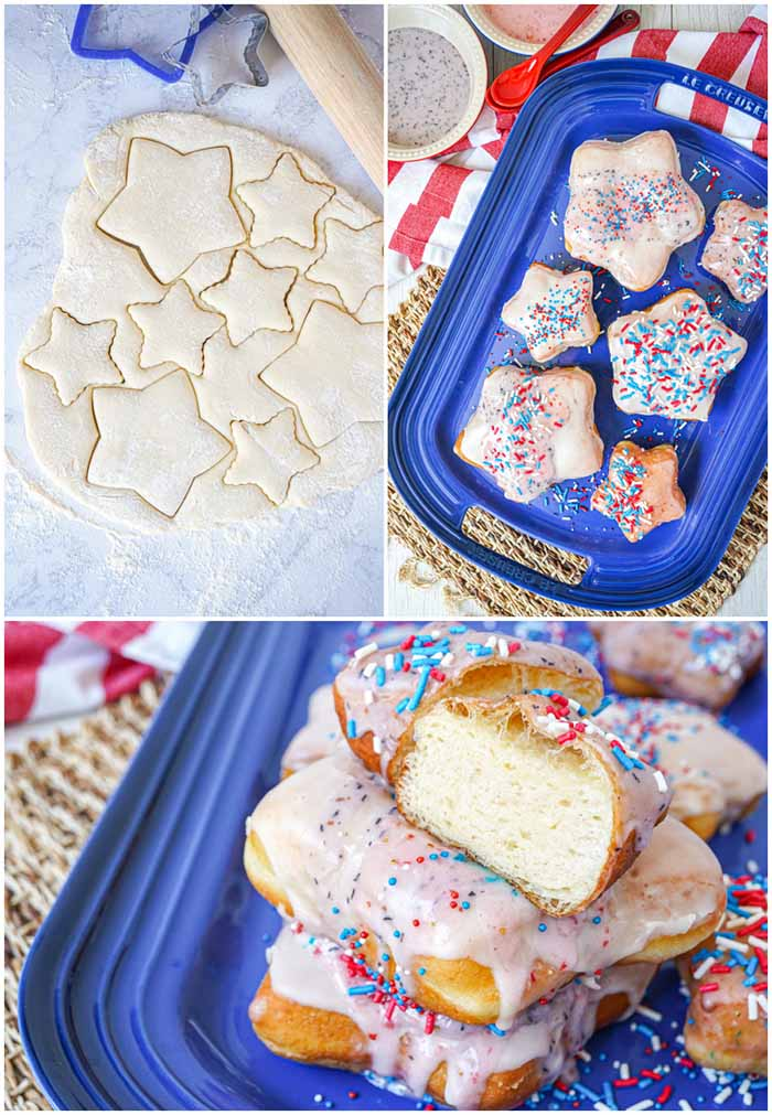 Star Shaped Donuts - 4th of July Snacks