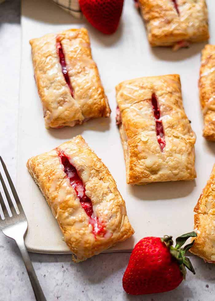 Strawberry and Cream Cheese Turnovers - 4th of July Snacks