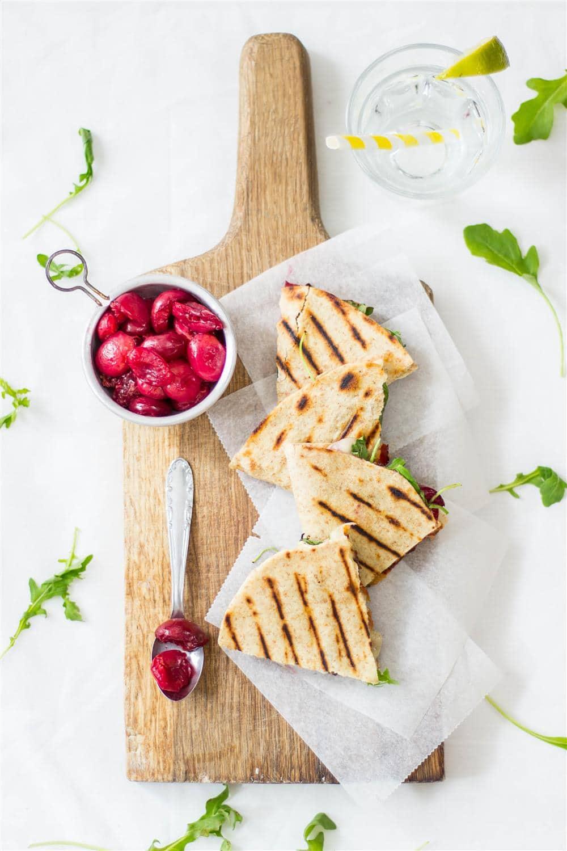 June Recipes - Cherry Quesadillas