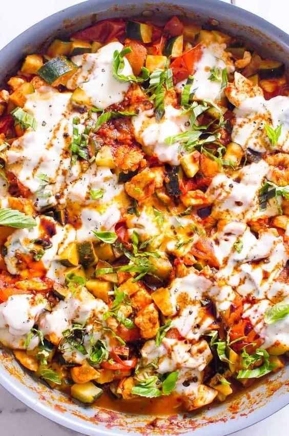 Caprese Chicken and Zucchini Chicken Caprese Recipes
