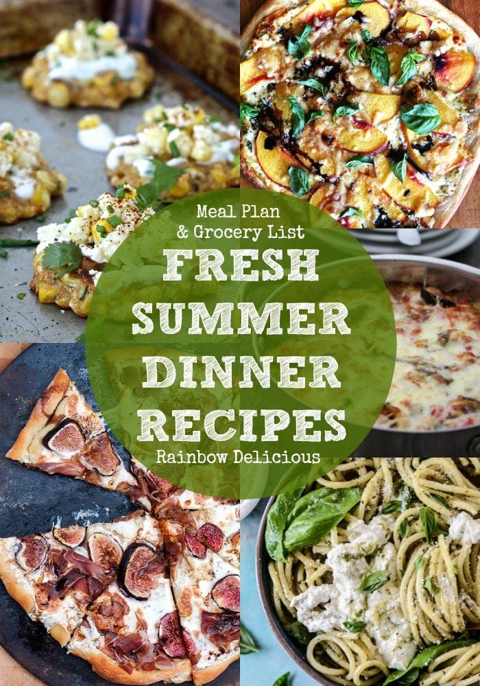 Fresh Summer Dinner Recipes Rainbow Delicious