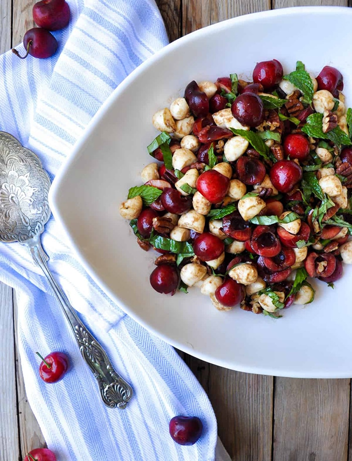 sweet cherry caprese - unique caprese salads