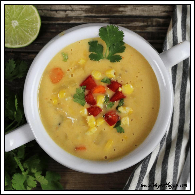 September Recipes Vegan Potato Leek Corn Chowder
