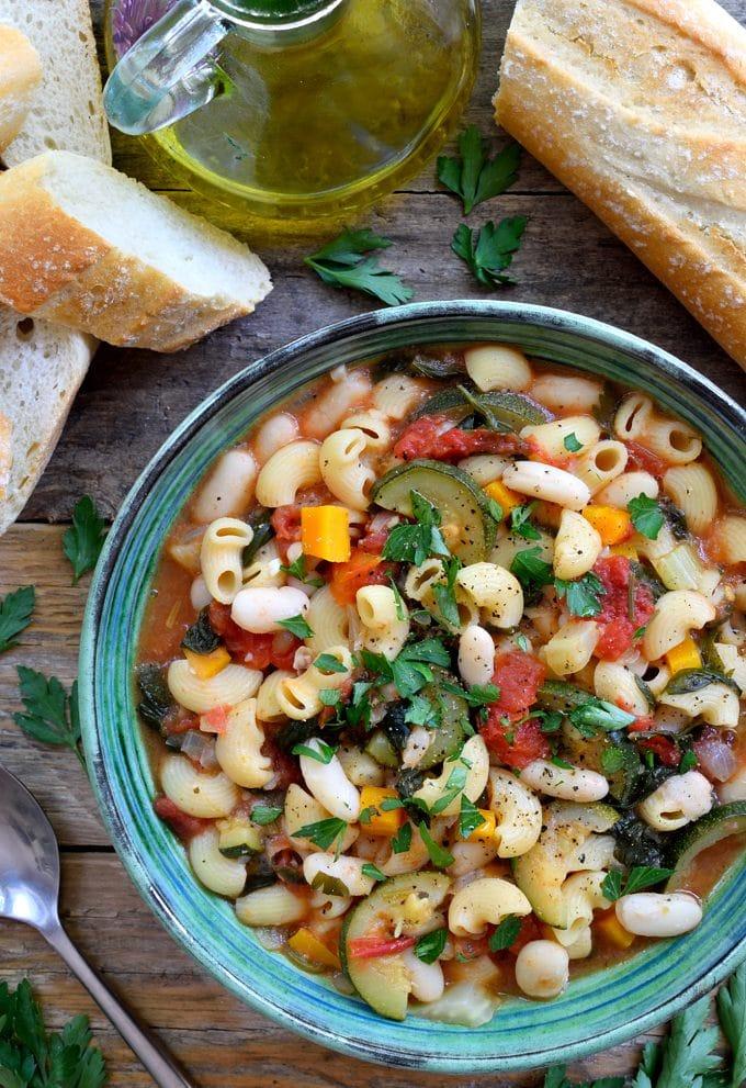 September Recipes Vegetarian Pasta Fagioli