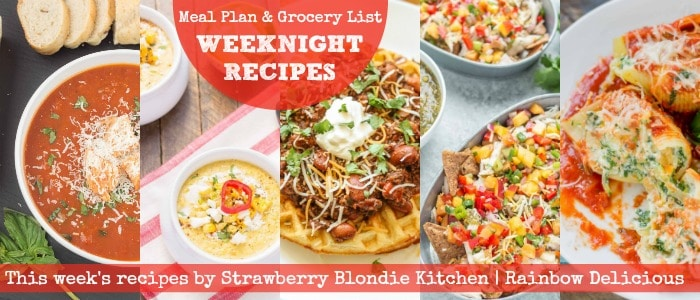 Weeknight Recipes by Strawberry Blondie Kitchen on Rainbow Delicious