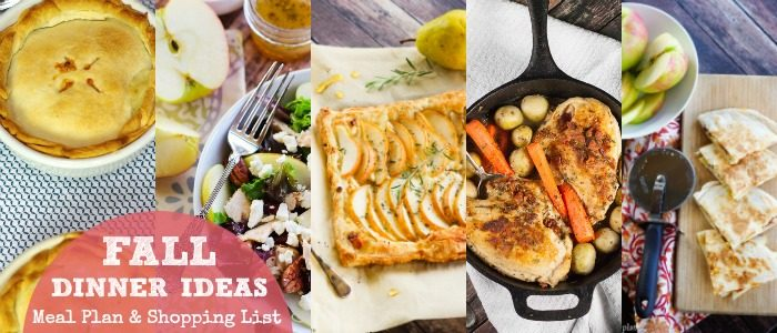 Fall Dinner Ideas Meal Plan from Home & Plate