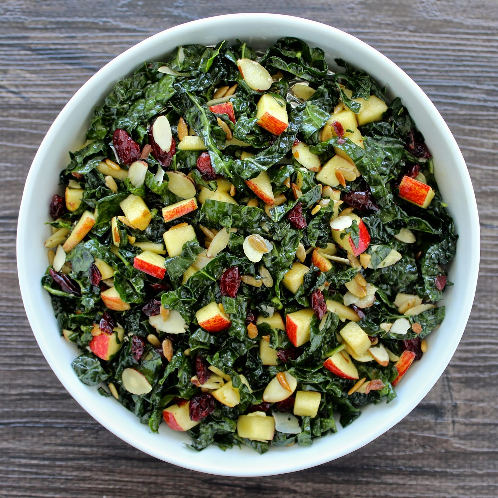 Healthy Vegetarian Recipe Ideas from The Foodie Physician Tuscan kale and apple salad