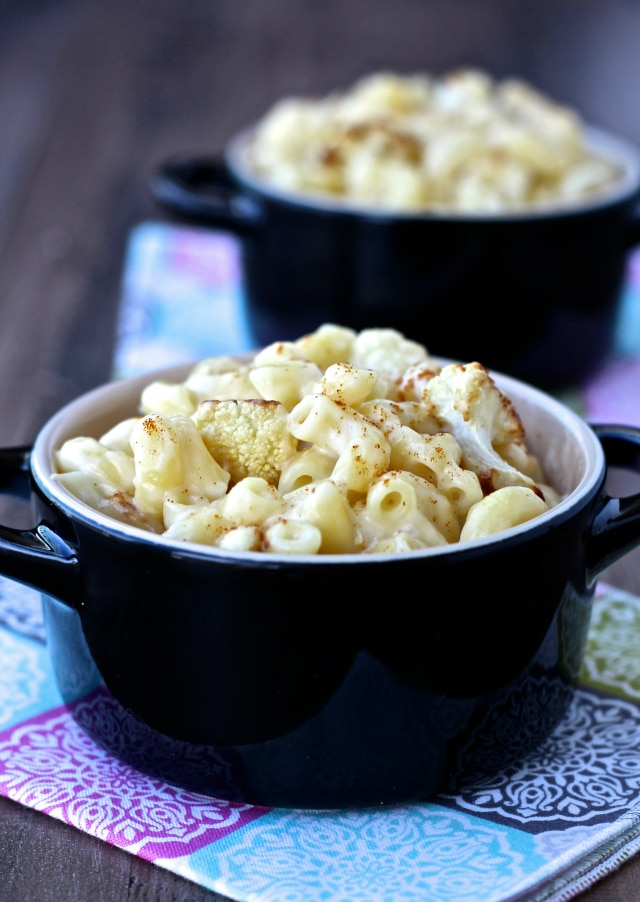 Healthy Vegetarian Recipe Ideas from The Foodie Physician cauliflower mac and cheese