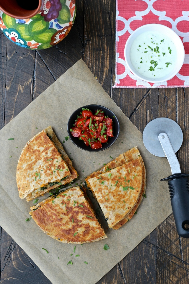 Healthy Vegetarian Recipe Ideas from The Foodie Physician sweet potato quesadillas