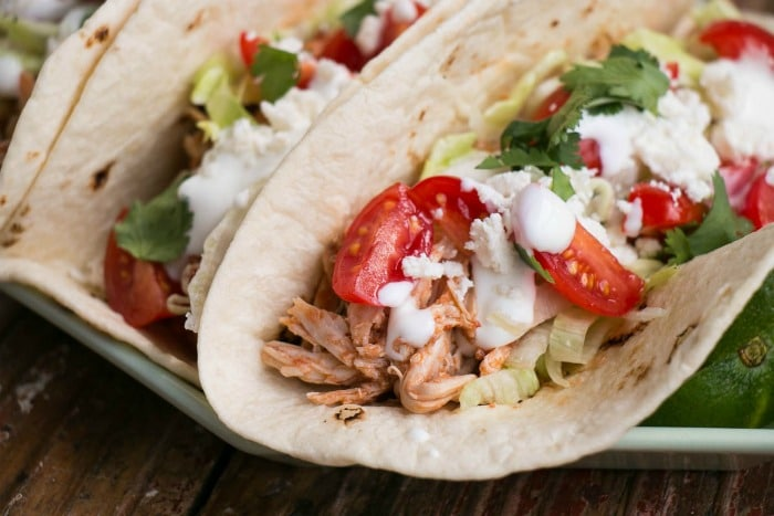 Healthy Weekly Meal Plan Slow Cooker Chicken Tanga Tacos