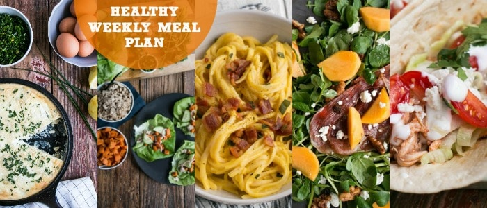 Healthy Weekly Meal Plan & Shopping List with My Kitchen Love