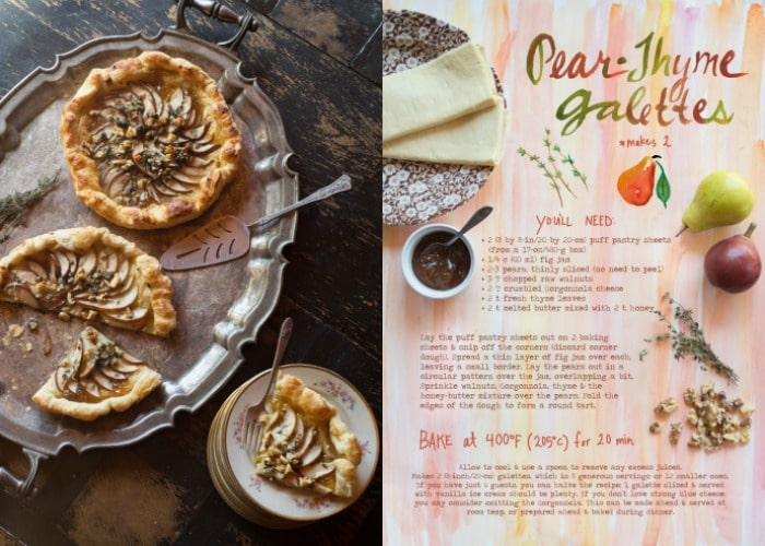 PicMonkey CollagA Week of Simple Vegetarian Recipes from The Forest Feast Recipe for Pear Thyme Galette