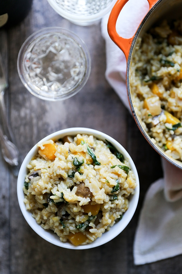 Butternut Squash Vegetarian Recipes Meal Plan featuring Oh My Veggies- Baked Butternut Squash and Champagne Risotto