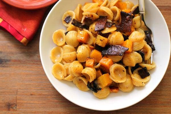 Butternut Squash Vegetarian Recipes Meal Plan featuring Oh My Veggies- Vegetarian Carbonara with Roasted Butternut Squash