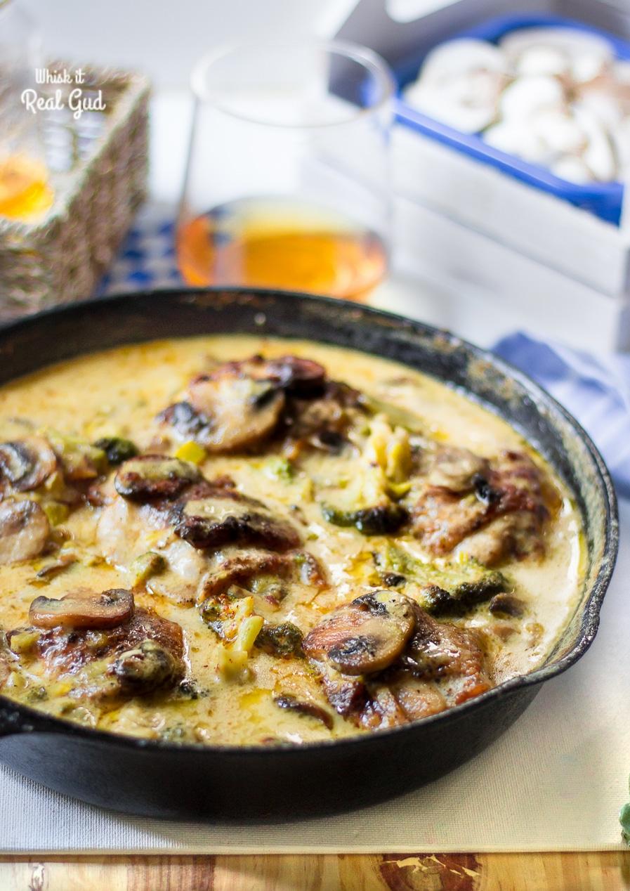 Chicken Dinner Recipes Broccoli Mushroom and Leek Chicken Alfredo