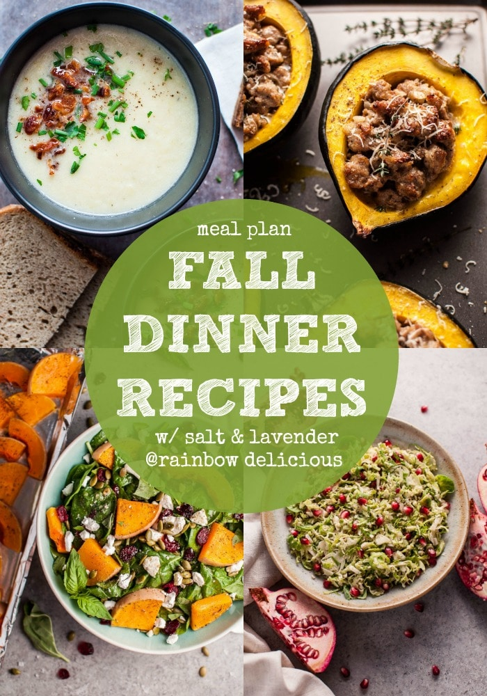 Fall Dinner Recipes Meal Plan featuring Salt & Lavender on Rainbow Delicious