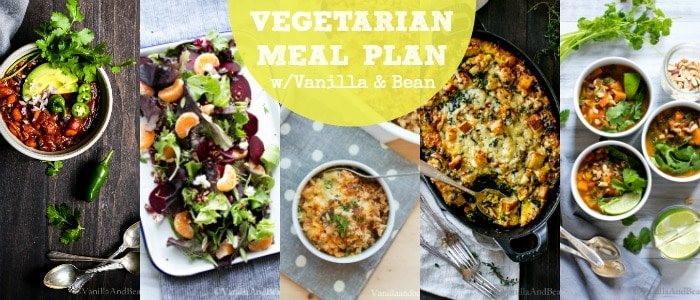 Healthy Vegetarian Recipes Meal Plan with Vanilla and Bean on Rainbow Delicious