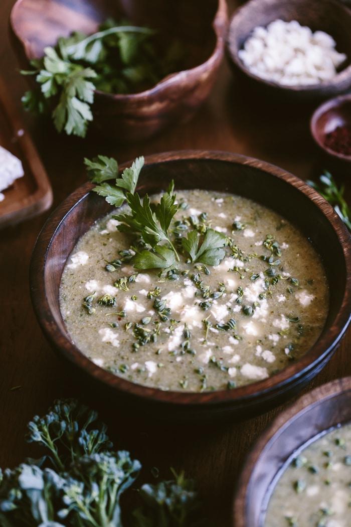 Healthy Vegetarian Weekly Menu from Foolproof Living broccoli feta soup