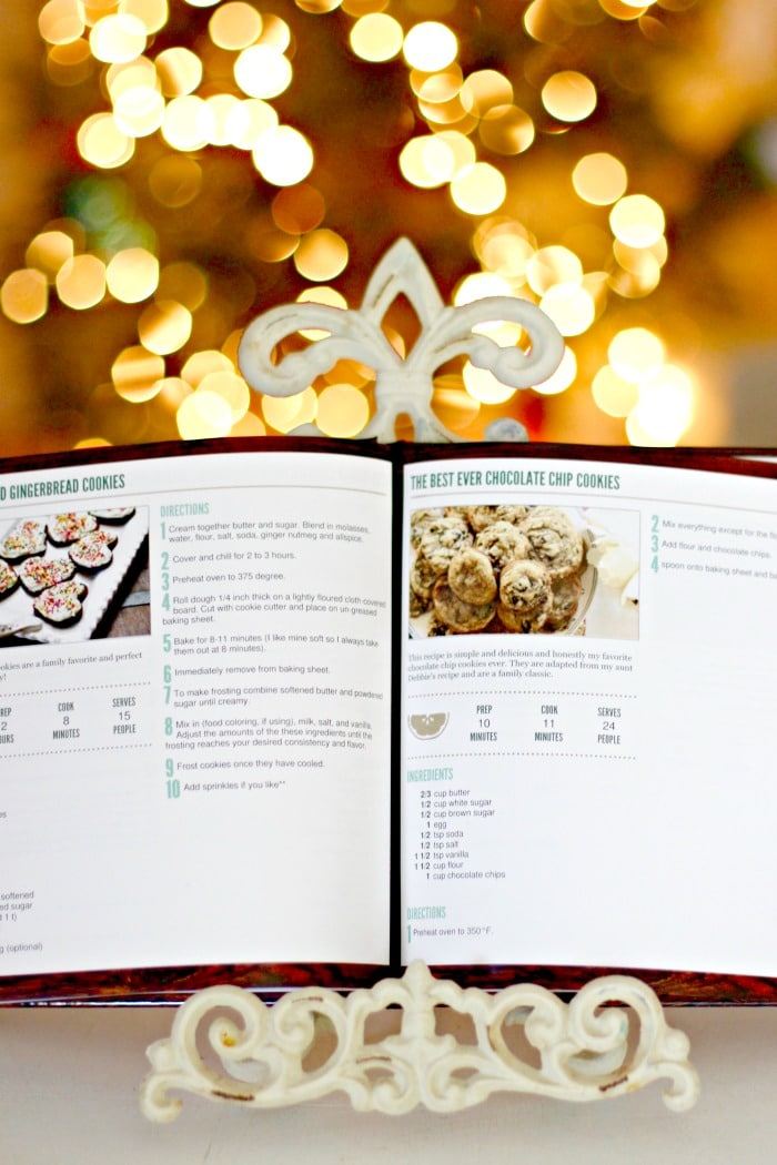 Personalized Holiday Gift Idea cookbook open