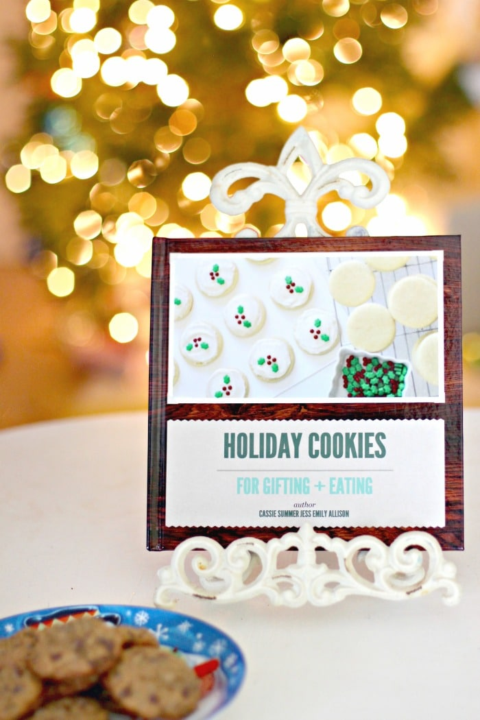 Personalized Holiday Gift Idea cookbook with cookies