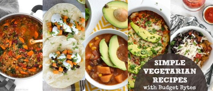 Simple Vegetarian Recipes Meal Plan with Budget Bytes