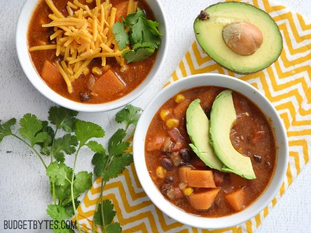 Simple Vegetarian Recipes with Budget Bytes | Sweet potato tortilla soup