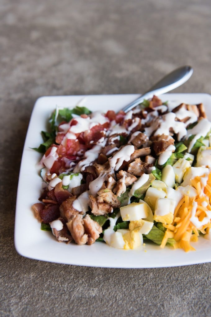 Ideas for Dinner BBQ hChicken Cobb Salad