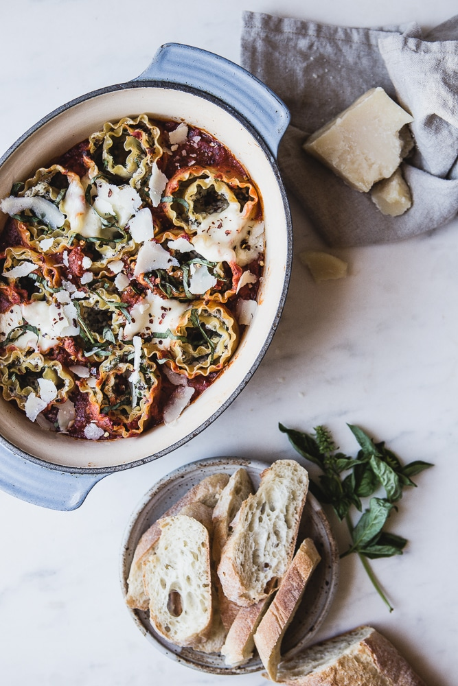 Recipes for Winter from The Modern Proper- 4 cheese and mushroom rolled lasagna