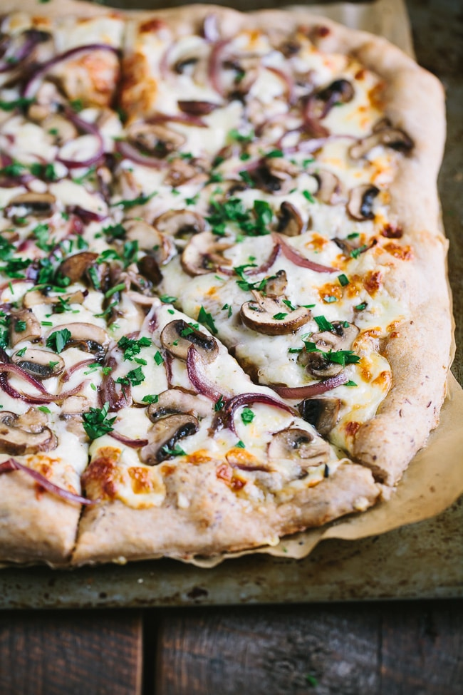 Winter Dinner Recipes Meal Plan with Gather and Dine cremini fontina pizza