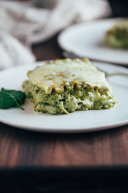 Winter Dinner Recipes Meal Plan with Gather and Dine pesto chicken lasagna