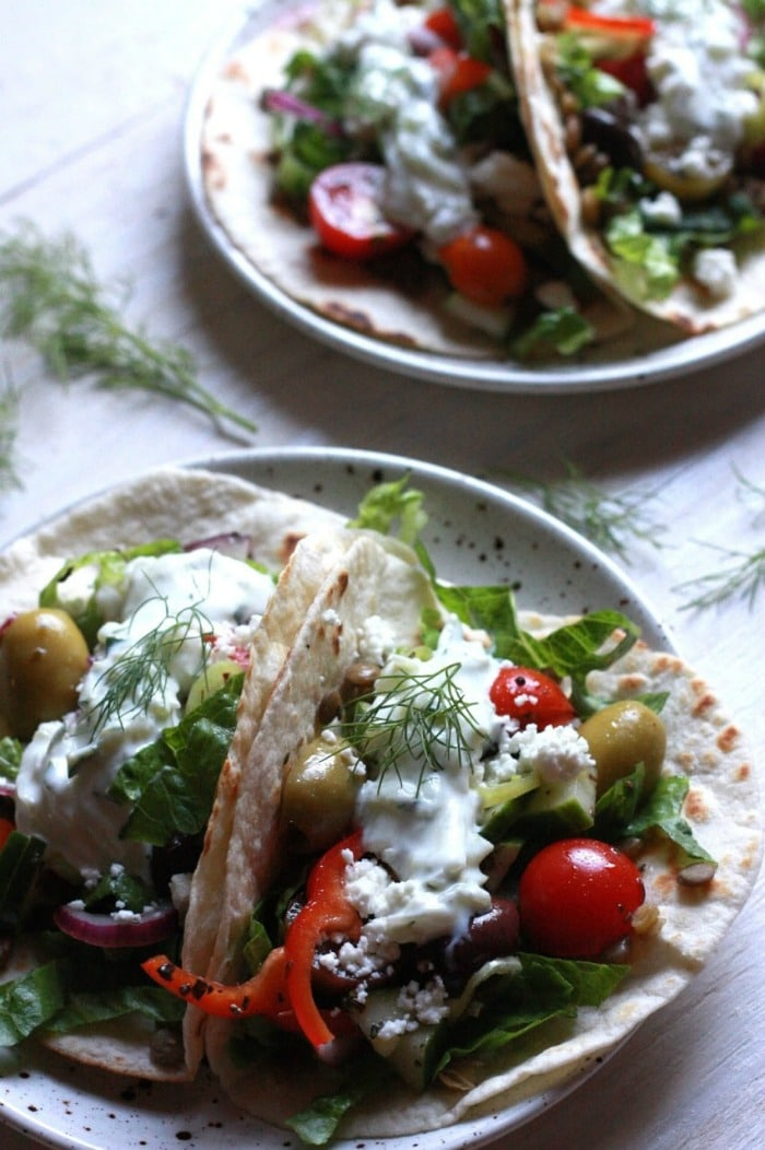 Five Vegetarian Dinner Ideas from Supper with Michelle- Greek Taco Recipe
