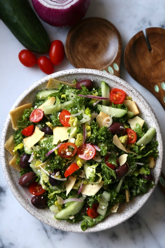 Five Vegetarian Dinner Ideas from Supper with Michelle- Mediterranean Kale Salad