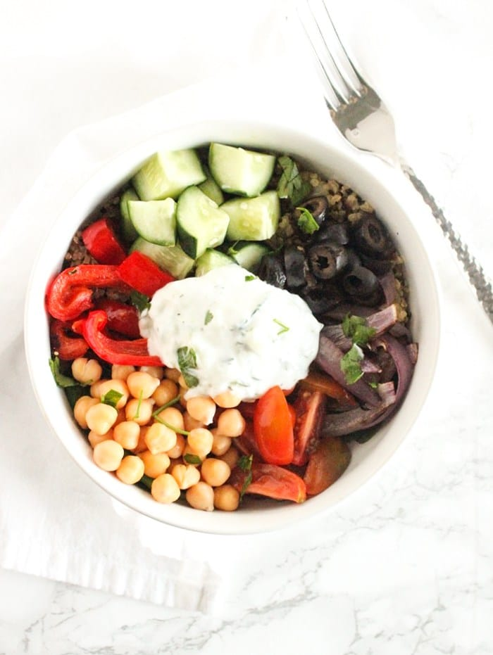 Healthy Dinner Recipes from Lively Table- Greek power bowls