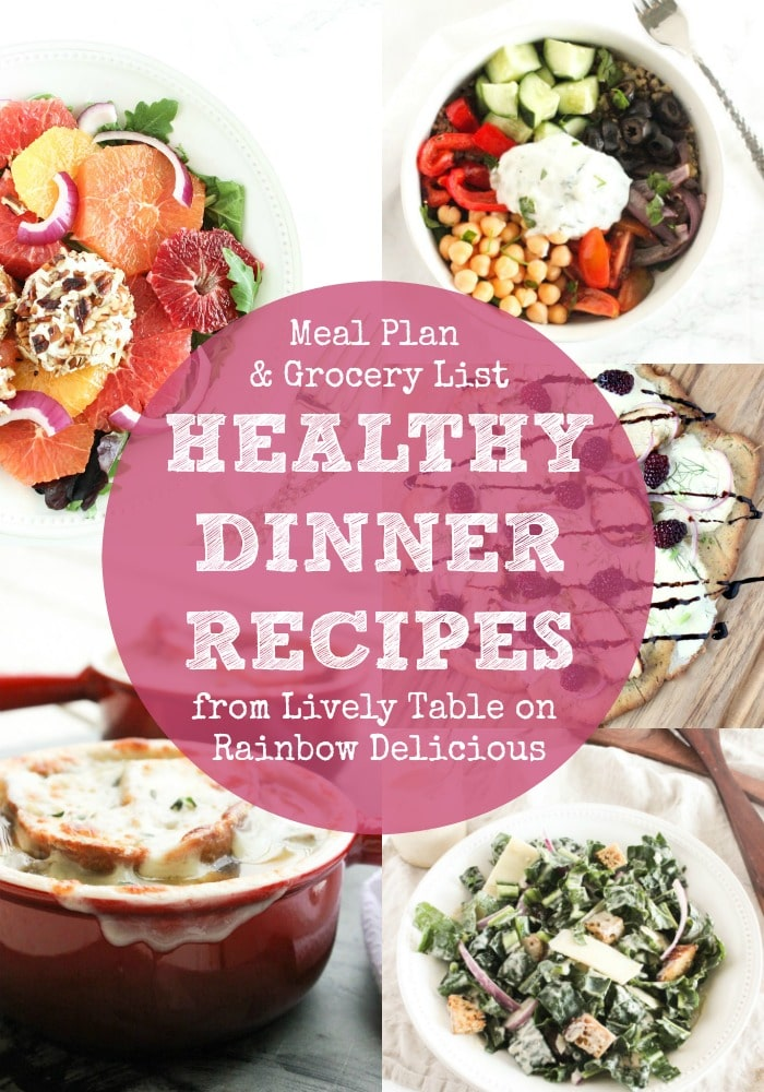 Healthy Dinner Recipes from Lively Table on Rainbow Delicious