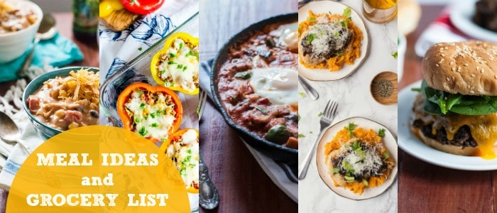 Meal Ideas and Grocery List with Cookie Named Desire Rainbow Delicious